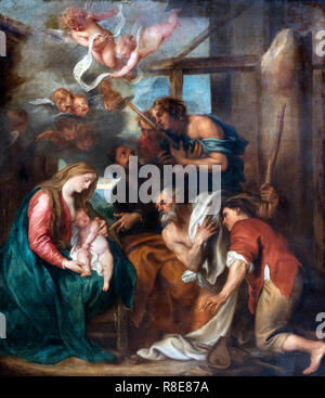 The Adoration of the Shepherds by Sir Anthony van Dyck (1599-1641), oil on canvas, c.1632 - Stock Photo