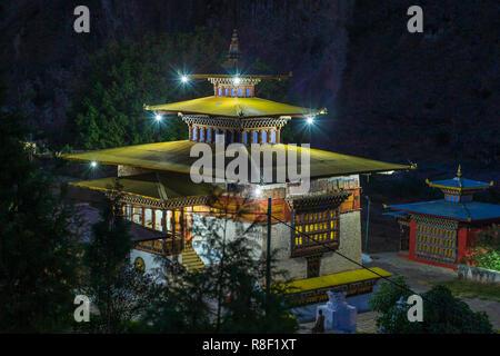 Gom Kora monastery near Trashigang, eastern Bhutan - Stock Photo