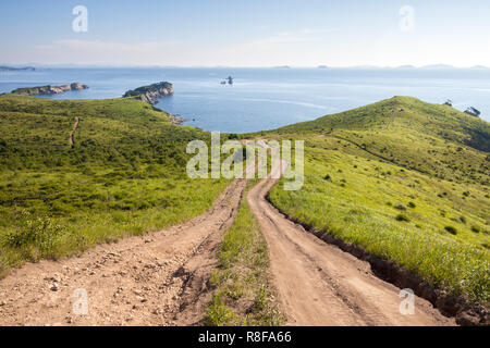 Way downhill to the sea - Stock Photo