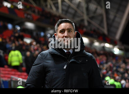 Bristol City manager Lee Johnson during the Sky Bet Championship match at Ashton Gate, Bristol. - Stock Photo