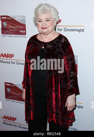 BEVERLY HILLS, LOS ANGELES, CA, USA - FEBRUARY 05: June Squibb at AARP's 17th Annual Movies For Grownups Awards held at The Beverly Wilshire Beverly Hills (A Four Seasons Hotel) on February 5, 2018 in Beverly Hills, Los Angeles, California, United States. (Photo by Xavier Collin/Image Press Agency) - Stock Photo