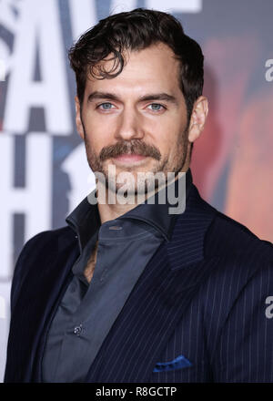HOLLYWOOD, LOS ANGELES, CA, USA - NOVEMBER 13: Henry Cavill arrives at the World Premiere Of Warner Bros. Pictures' 'Justice League' held at the Dolby Theatre on November 13, 2017 in Hollywood, Los Angeles, California, United States. (Photo by Xavier Collin/Image Press Agency) - Stock Photo
