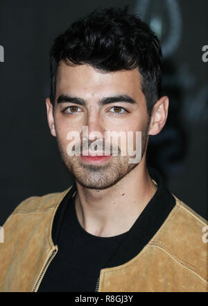 HOLLYWOOD, LOS ANGELES, CA, USA - DECEMBER 11: Joe Jonas at the World Premiere Of Columbia Pictures' 'Jumanji: Welcome To The Jungle' held at the TCL Chinese Theatre IMAX on December 11, 2017 in Hollywood, Los Angeles, California, United States. (Photo by Xavier Collin/Image Press Agency) - Stock Photo