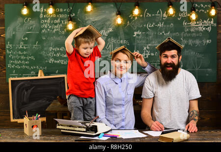 Concept education - back to school on green background, Portrait of female teacher using modern technology laptop in her class, Desire to help should be in the tutor by nature, - Stock Photo