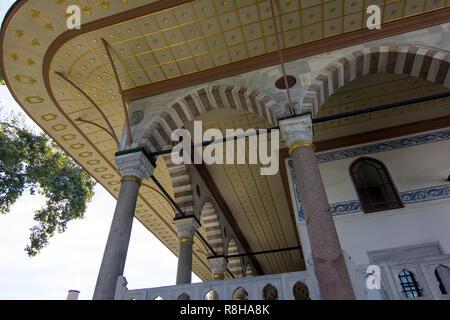 The Hagia Sophia interior, landmark in Istanbul, Turkey. - Stock Photo