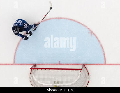 Herning, Denmark. 17th May, 2018. Teuvo Teravainen, Finland lets out his rage on the goal after loosing the quarterfinal between Finland and Switzerland in the IIHF World Ice Hockey Championship 2018 in Jyske Bank Boxen, Herning, Denmark. Credit: Lars Moeller/ZUMA Wire/Alamy Live News - Stock Photo