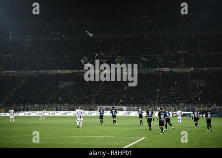 Milan, Italy. 15th Dec 2018. A general view of Serie A football match, Inter Milan vs Udinese Calcio at San Siro Meazza Stadium in Milan, Italy on 15 December 2018 Credit: Piero Cruciatti/Alamy Live News - Stock Photo