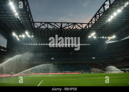 Milan, Italy. 15th Dec 2018. A general view of the stadium before the Serie A football match, Inter Milan vs Udinese Calcio at San Siro Meazza Stadium in Milan, Italy on 15 December 2018 Credit: Piero Cruciatti/Alamy Live News - Stock Photo