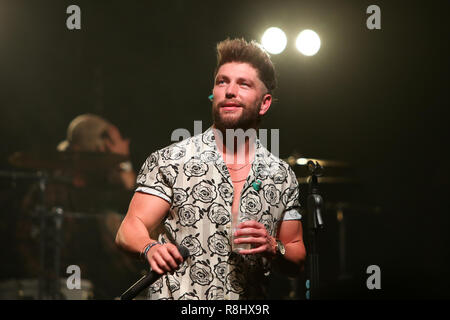NEW YORK - DEC 13: Chris Lane performs in concert at Irving Plaza on December 13, 2018 in New York City - Stock Photo