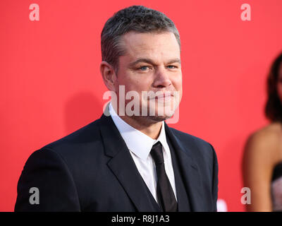 WESTWOOD, LOS ANGELES, CA, USA - OCTOBER 22: Actor Matt Damon arrives at the Los Angeles Premiere Of Paramount Pictures' 'Suburbicon' held at Regency Village Theatre on October 22, 2017 in Westwood, Los Angeles, California, United States. (Photo by Xavier Collin/Image Press Agency) - Stock Photo