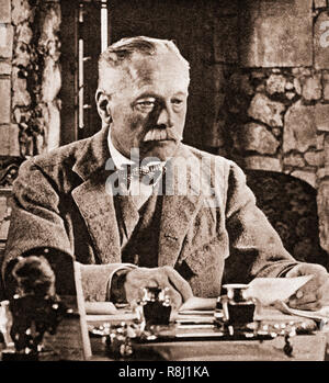 Lord Douglas Haig, 1st Earl Haig, (1861-1928) became a field marshall in the British Army. During the First World War he commanded the British Expeditionary Force (BEF) on the Western Front from late 1915 until the end of the war. He was commander during the Battle of the Somme, the Battle of Arras, the Third Battle of Ypres, the German Spring Offensive, and the Hundred Days Offensive. After retirement he devoted himself to the welfare of ex-military personal. - Stock Photo