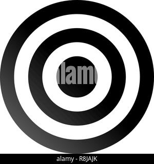 Target sign - black gradient transparent, isolated - vector illustration - Stock Photo