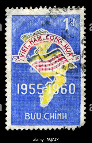 Postage stamp from South Vietnam in the Fifth anniversary of the Republic series issued in 1960 - Stock Photo