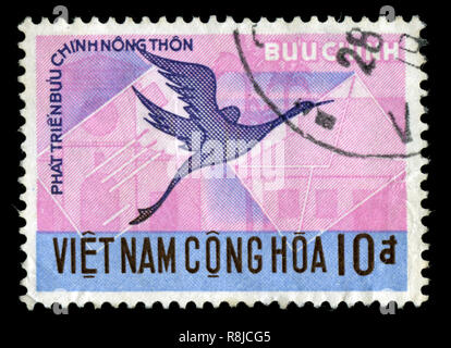 Postage stamp from South Vietnam in the Airmail 1960 series - Stock Photo