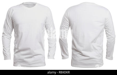 Blank Long Sleve Shirt Mock Up Template Front View