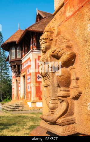 India, state of Kerala, Thiruvananthapuram (or Trivandrum), capital of Kerala, Napier Museum (19th century) is an art and natural history museum - Stock Photo
