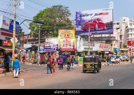 India, state of Kerala, Thiruvananthapuram (or Trivandrum), capital of Kerala, Thampanoor district - Stock Photo