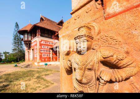 India, state of Kerala, Thiruvananthapuram (or Trivandrum), capital of Kerala, Napier Museum (19th century) is an art and natural history museum - Stock Photo