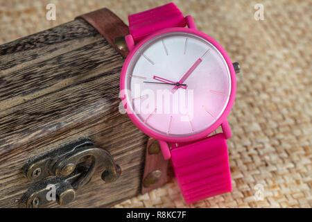 Luxury wrist watch. - Stock Photo