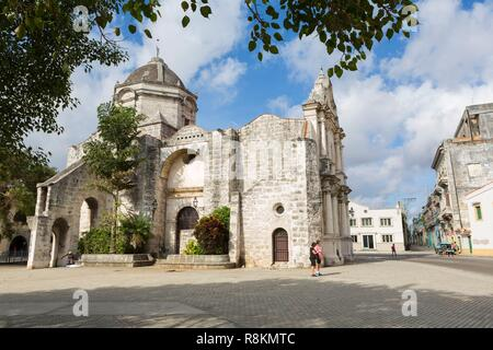 Cuba, Havana, district of Habana Vieja classified World Heritage by UNESCO, the baroque church San Francisco de Paula built between 1730 and 1745 - Stock Photo