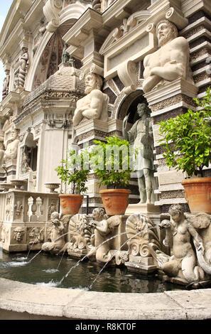 Fountain dell'organo in the Gardens of Villa d'Este, Tivoli,  Italy - Stock Photo