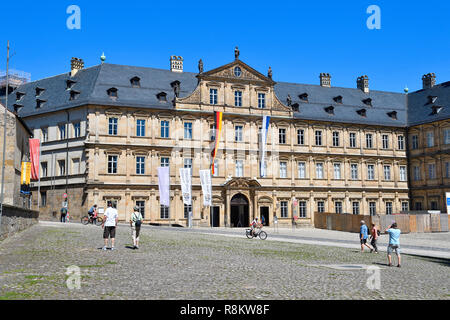 Germany, Bavaria, Upper Franconia Region, Bamberg, listed as World Heritage by UNESCO, Domplatz - Stock Photo