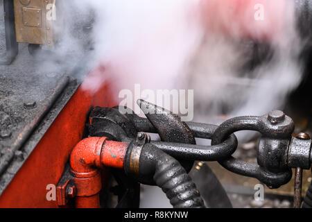Steam engine detail - Stock Photo