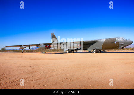 Boeing B52G Stratofortress strategic bomber plane on display at the Pima Air & Space Museum in Tucson, AZ - Stock Photo