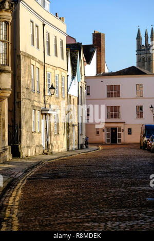 Around the University City of Oxford in Oxfordshire England UK Merton St - Stock Photo