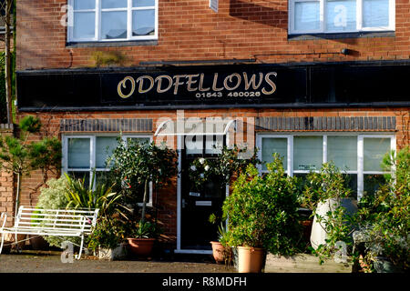 Shenstone is a small village is Staffordshire England UK  Oddfellows - Stock Photo