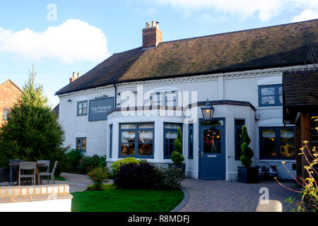 Shenstone is a small village is Staffordshire England UK; The Plough at shenstone. - Stock Photo