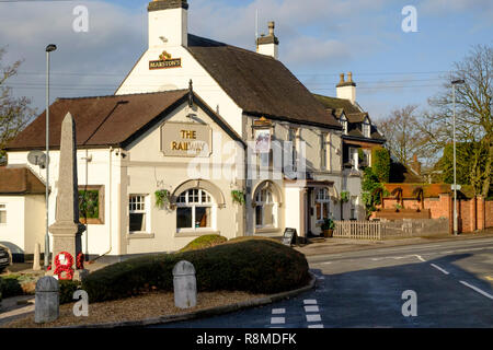 Shenstone is a small village is Staffordshire England UK  The railway Inn. - Stock Photo