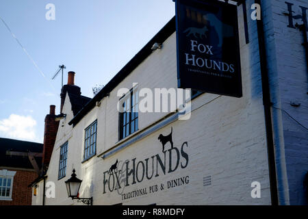 Shenstone is a small village is Staffordshire England UK Fox and Hounds Pub - Stock Photo