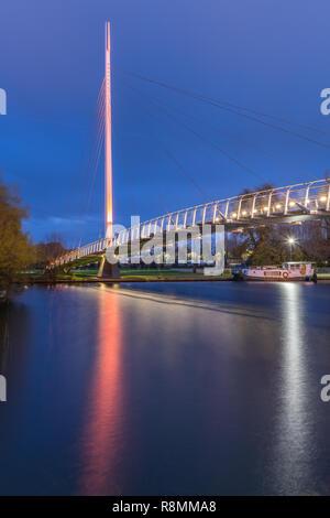 Christchurch Bridge, Reading Berkshire United Kingdom - Stock Photo