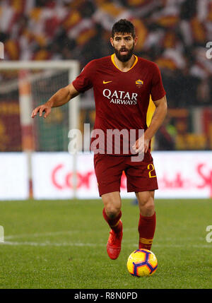 Rome, Italy, 16th December, 2018. Roma's Federico Fazio in action during the Serie A soccer match between Roma and Genoa at the Olympic Stadium. Roma won 3-2  © Riccardo De Luca UPDATE IMAGES/ Alamy Live News - Stock Photo