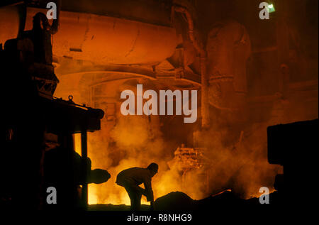 Steel plant in India - Stock Photo