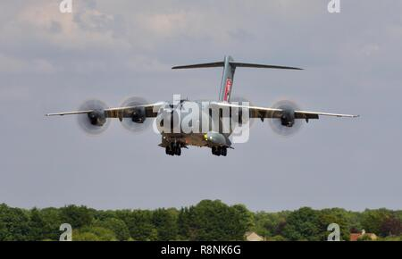 Airbus A400M Atlas military transport aircraft at the 2018 Royal International Air Tattoo - Stock Photo