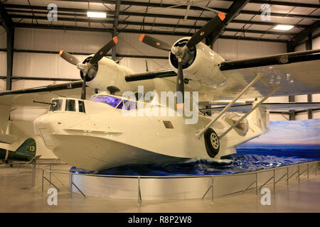 WW2 Consolidated PBY Catalina flying boat plane on display at the Pima Air & Space Museum in Tucson, AZ - Stock Photo