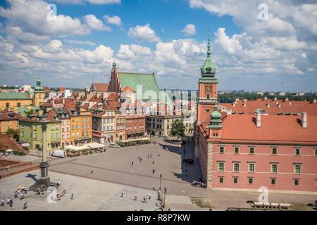 View of Warsaw Poland - Stock Photo