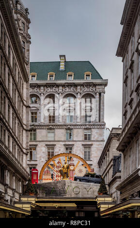 Exterior of The Savoy hotel, London, UK. - Stock Photo