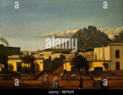 South Africa, Western Cape, Cape Town, City Bowl, Cape Dutch architecture, the castle of Good Hope museum, the city in the 18th century - Stock Photo