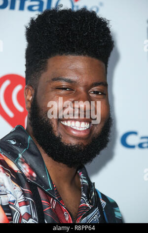 LAS VEGAS, NV, USA - SEPTEMBER 23: Khalid in the press room during the 2017 iHeartRadio Music Festival - Day 2 held at the T-Mobile Arena on September 23, 2017 in Las Vegas, Nevada, United States. (Photo by Xavier Collin/Image Press Agency) - Stock Photo