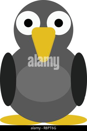 Bird Pigeon vector illustration of a cute cartoon animal character for kids.