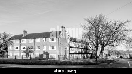 Social housing - a block of flats in Newcastle-under-Lyme in Staffordshire maintained by Aspire housing - Stock Photo