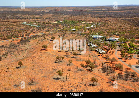 Aerial view of Kings Canyon Resort - Stock Photo