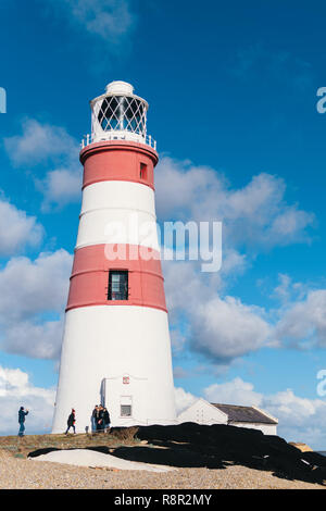 Orfordness Lighthouse, Orford Ness, Suffolk, UK. Decommissioned in 2013, the 30m lighthouse was completed in 1792. - Stock Photo
