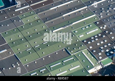 France, Puy de Dome, Volvic, (aerial view) - Stock Photo