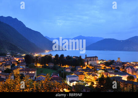 Italy, Lombardy, Iseo lake (Il Lago d'Iseo), Pisogne - Stock Photo