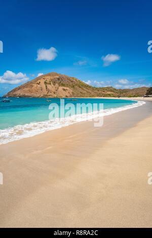 Indonesia, Lombok, Kuta area, Mawan beach or Mawun - Stock Photo