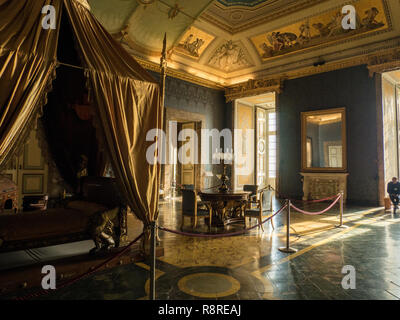 Interior of the Royal Palace of Caserta, a former royal residence in the region of Campania,Italy. - Stock Photo